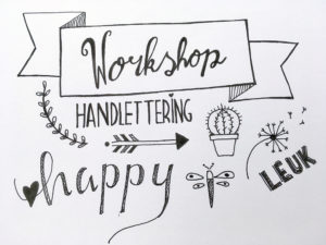 workshop handletteren bij Nickies